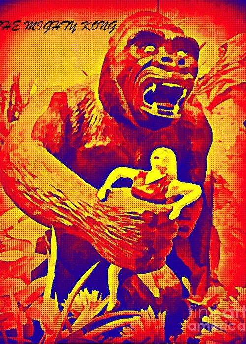 King Kong Greeting Card featuring the digital art King Kong by John Malone