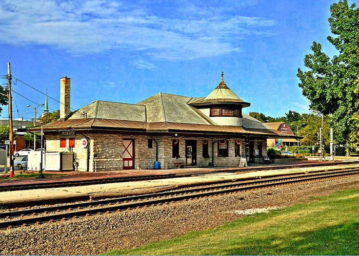 Train Greeting Card featuring the photograph Kirkwood Station by Marty Koch