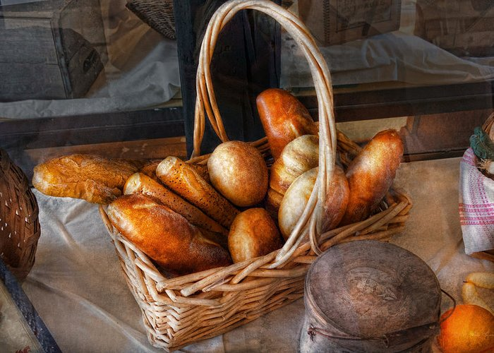Savad Greeting Card featuring the photograph Kitchen - Food - Bread - Fresh Bread by Mike Savad
