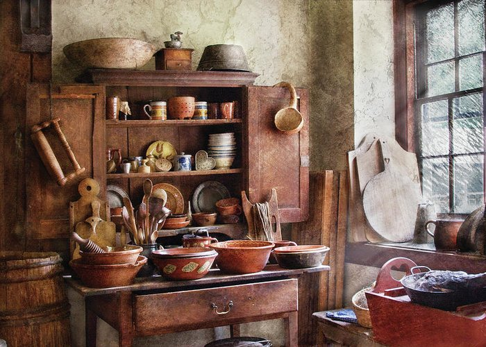 Savad Greeting Card featuring the photograph Kitchen - For The Master Chef by Mike Savad