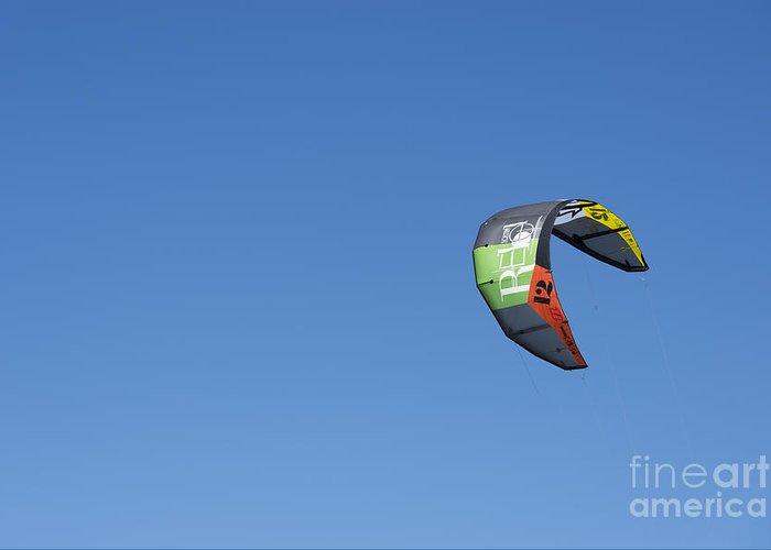 Kiteboarding Greeting Card featuring the photograph Kitesurfing Sail by Mats Silvan