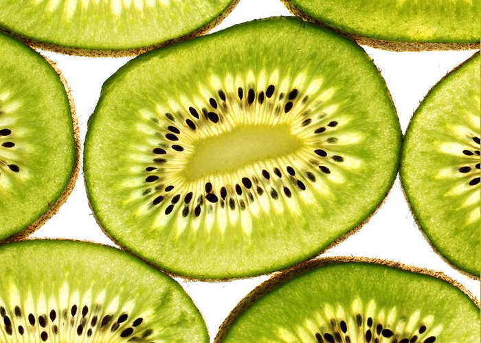 Close Greeting Card featuring the photograph Kiwi Fruit IIi by Paul Ge