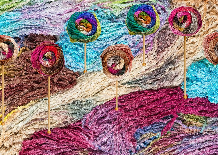 Colors Greeting Card featuring the photograph Knitting Lane by Les Palenik