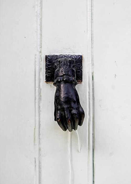 Door Knocker Greeting Card featuring the photograph Knock Knock by Georgia Fowler