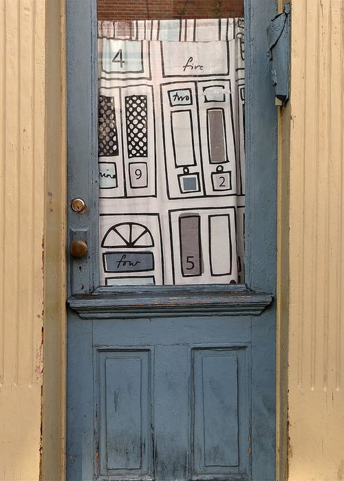 Old Blue Door Greeting Card featuring the photograph Knock Twice And Ask For Betty by Ira Shander