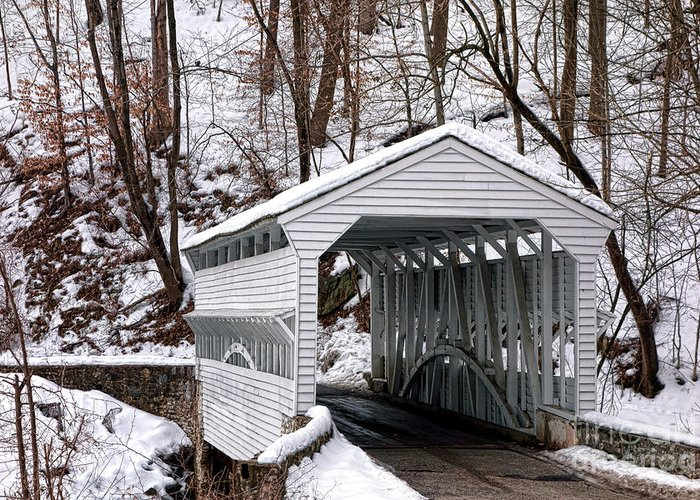Knox Covered Bridge - Valley Forge Greeting Cards