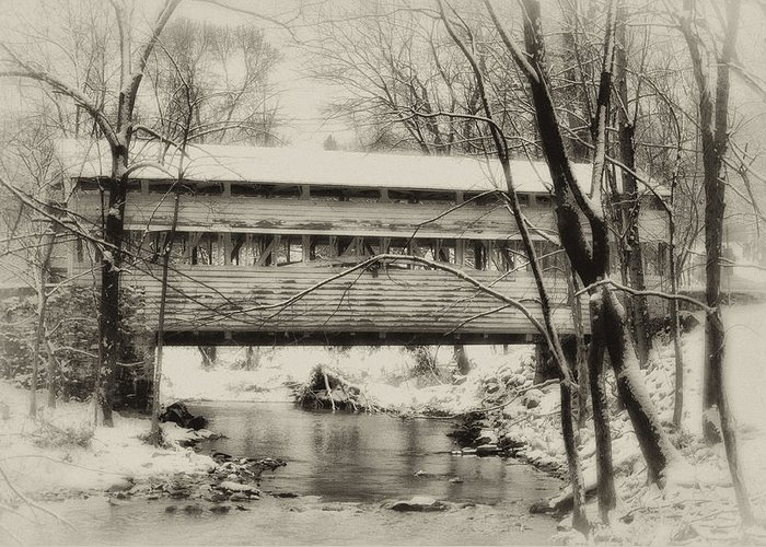 Knox Greeting Card featuring the photograph Knox Valley Forge Covered Bridge by Bill Cannon
