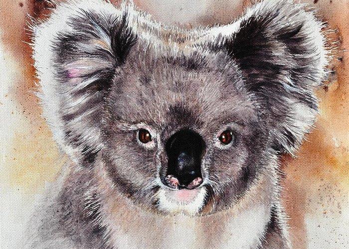 Koala greeting card for sale by sandra phryce jones koala australia nsw marsupial phascolarctos cinereus greeting card featuring the painting koala by sandra m4hsunfo