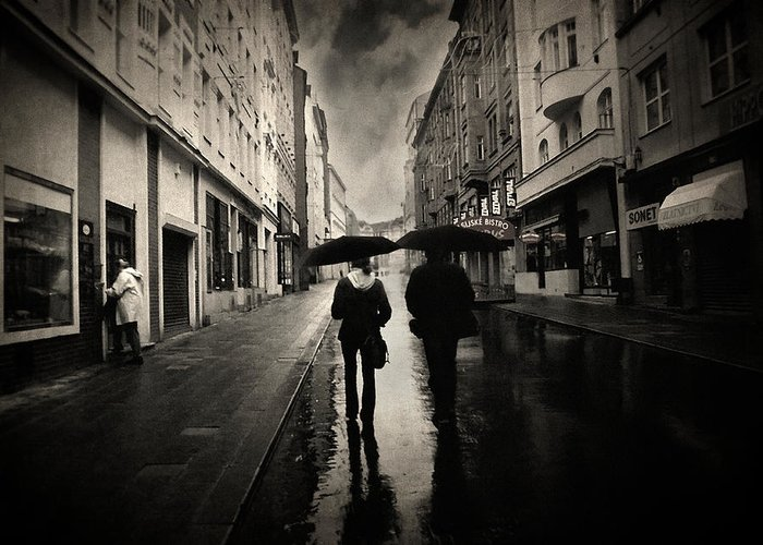 Rain Photograph Greeting Card featuring the photograph Koblizna by Taylan Soyturk