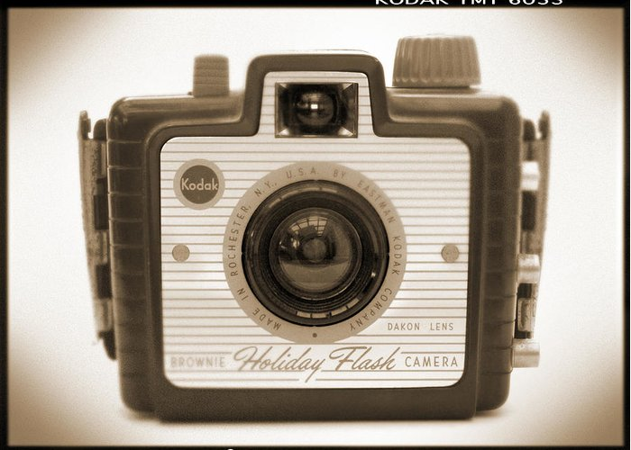 Vintage Kodak Greeting Card featuring the photograph Kodak Brownie Holiday Flash by Mike McGlothlen
