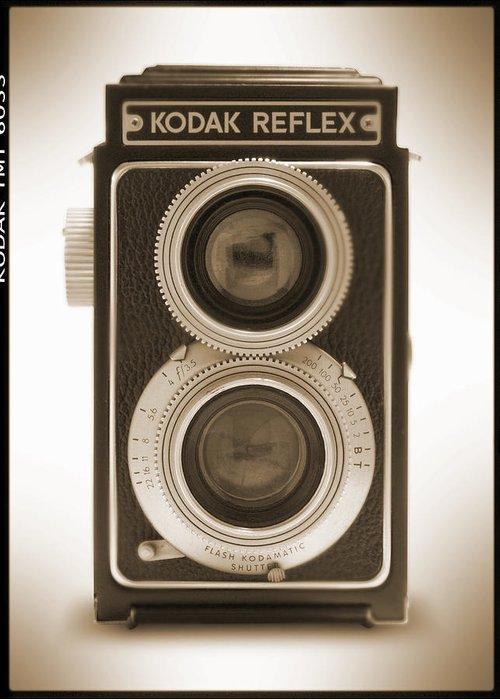 Classic Reflex Camera Greeting Card featuring the photograph Kodak Reflex Camera by Mike McGlothlen