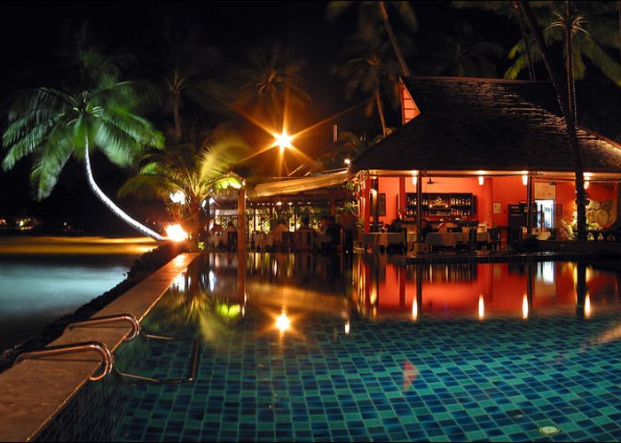 3scape Greeting Card featuring the photograph Koh Samui Beach Resort by Adam Romanowicz