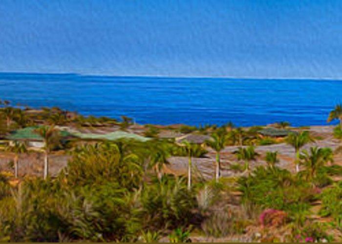 Big Island Greeting Card featuring the photograph Kohala Coast Panorama by Omaste Witkowski