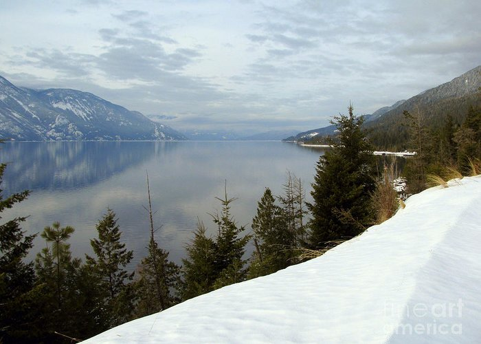 Christmas Greeting Card featuring the photograph Kootenay Paradise by Leone Lund