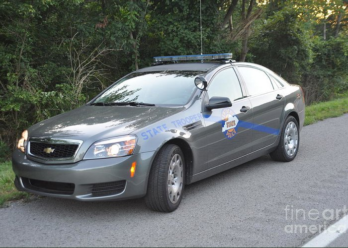 Kentucky State Police Cruiser Greeting Card featuring the photograph Ksp Cruiser by Steven Townsend