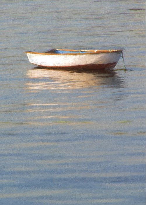 Boat Greeting Card featuring the photograph La Barque Au Crepuscule by Jean-Pierre Ducondi