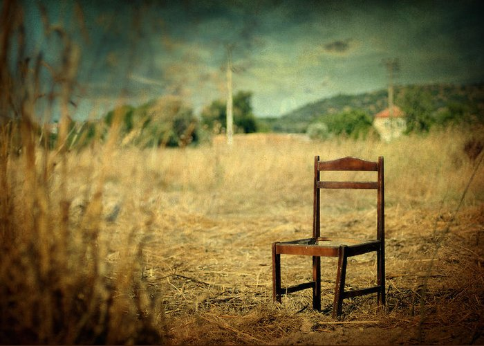 Surreal Greeting Card featuring the photograph La Chaise by Taylan Apukovska