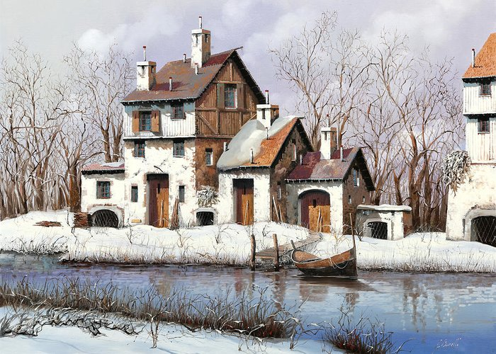 White River Paintings Greeting Cards