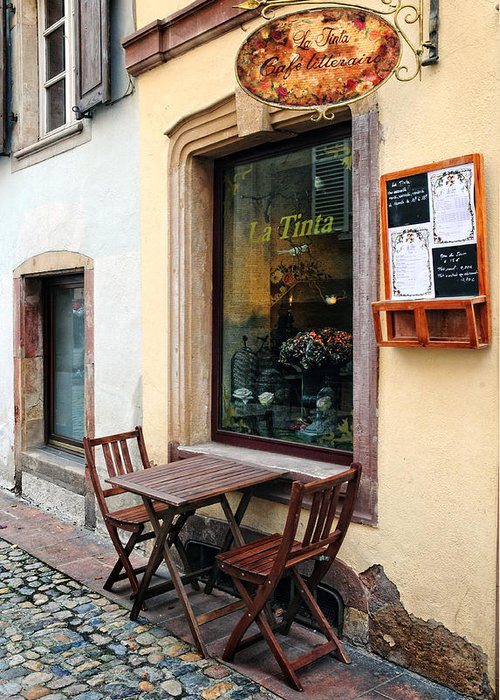 Cafe Greeting Card featuring the photograph La Tinta Cafe by Dave Mills