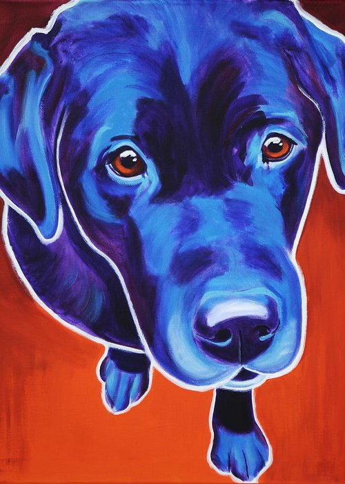 Labrador Greeting Card featuring the painting Lab - Olive by Alicia VanNoy Call