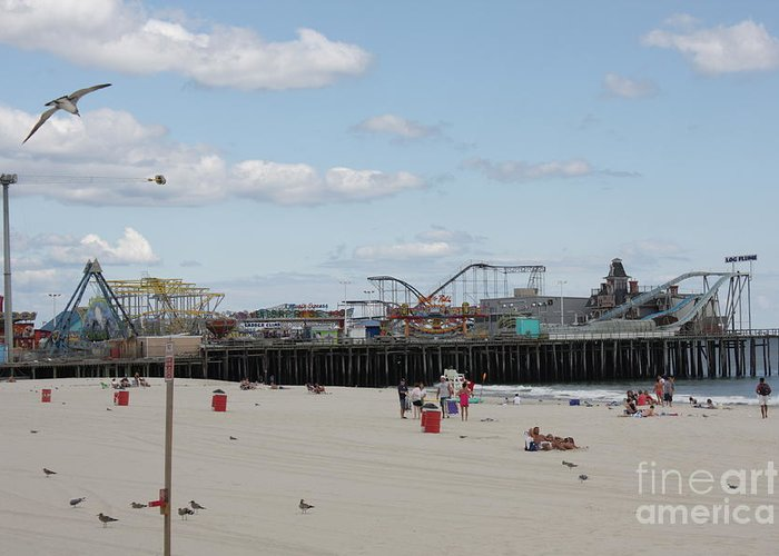 Casino Pier Greeting Card featuring the photograph Labor Day At The Pier by Laura Wroblewski