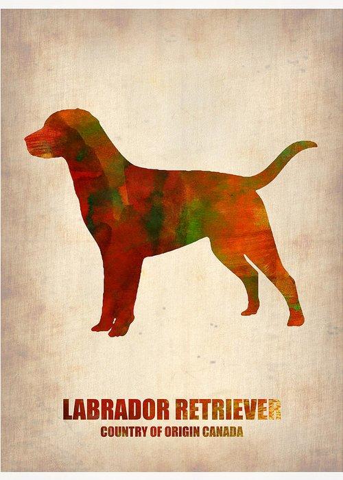 Labrador Retriever Greeting Card featuring the painting Labrador Retriever Poster by Naxart Studio