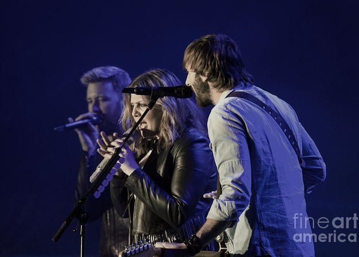 County Music Greeting Card featuring the photograph Lady Antebellum by Debbie D Anthony
