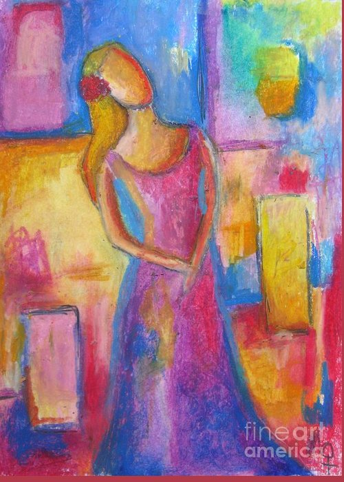 Modern Greeting Card featuring the painting Lady Grace by Venus