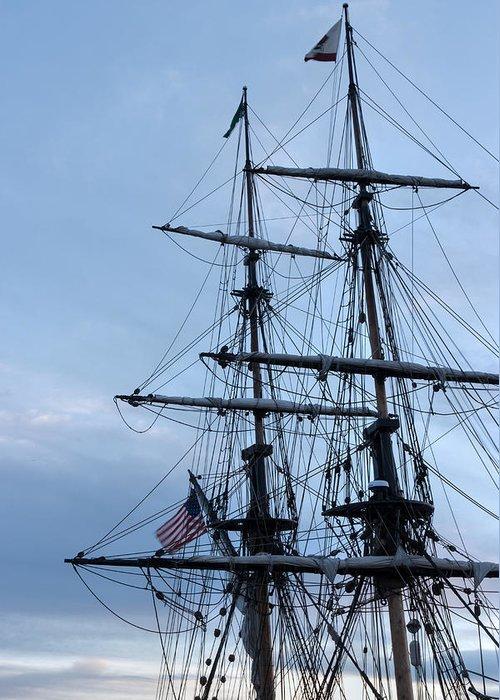 Washington Greeting Card featuring the photograph Lady Washington's Masts by Heidi Smith