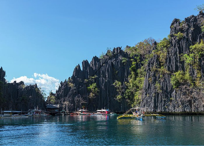 Outdoors Greeting Card featuring the photograph Lagoon, Coron, Palawan, Phillippines by John Harper