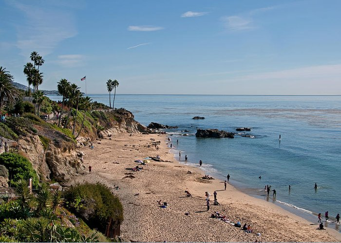 Tranquility Greeting Card featuring the photograph Laguna Beach Cove by Mitch Diamond