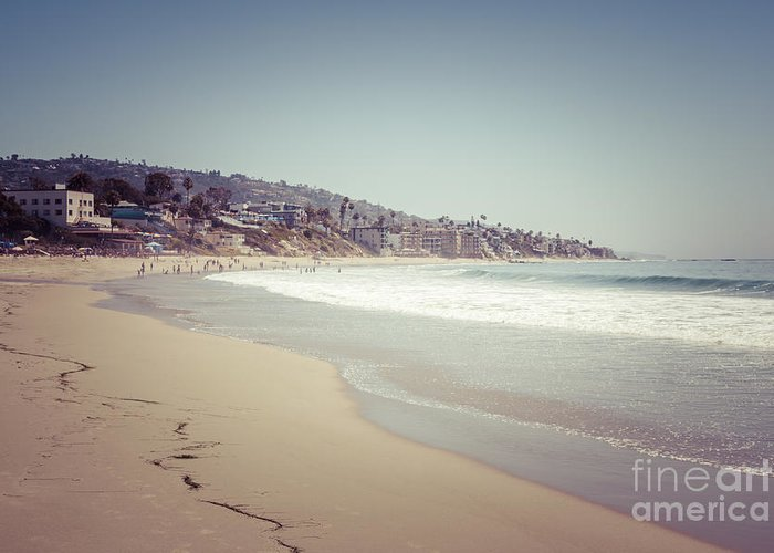 1960s Greeting Card featuring the photograph Laguna Beach Retro Picture by Paul Velgos