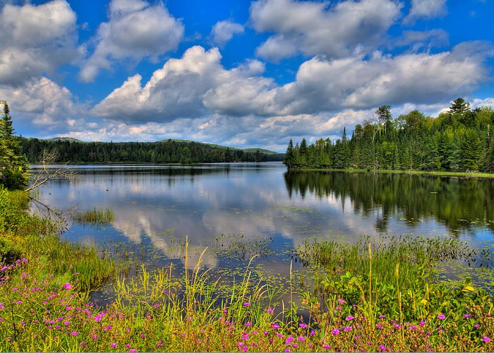 Lake Abanakee Greeting Card featuring the photograph Lake Abanakee In Indian Lake New York by David Patterson