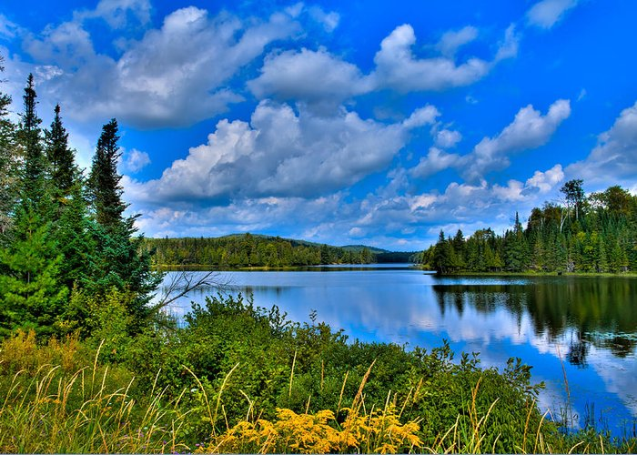 Lake Abanakee Greeting Card featuring the photograph Lake Abanakee - Indian Lake New York by David Patterson