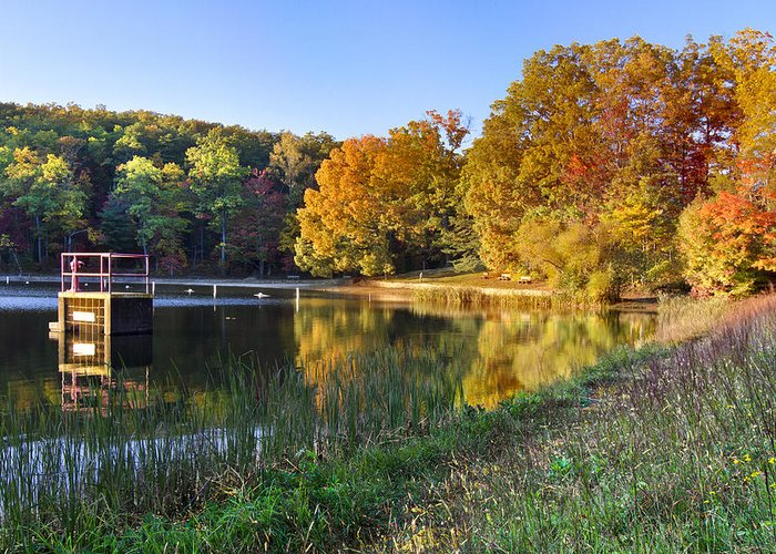 Appalachia Greeting Card featuring the photograph Lake At Chilhowee by Debra and Dave Vanderlaan
