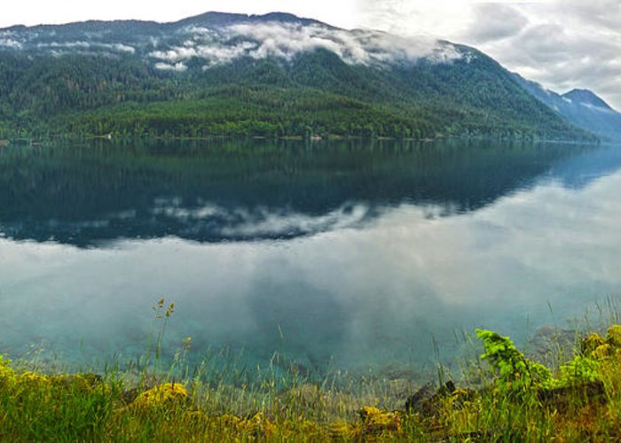 Lake Crescent Greeting Card featuring the photograph Lake Crescent - Washington - 03 by Gregory Dyer