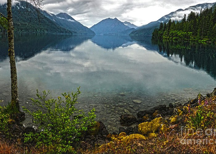 Lake Crescent Greeting Card featuring the photograph Lake Crescent - Washington - 04 by Gregory Dyer