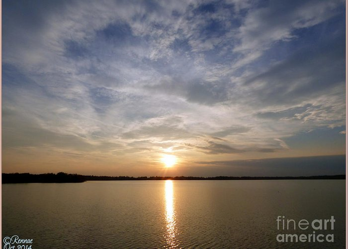 Water Greeting Card featuring the photograph Lake Delta Sunset by Rennae Christman