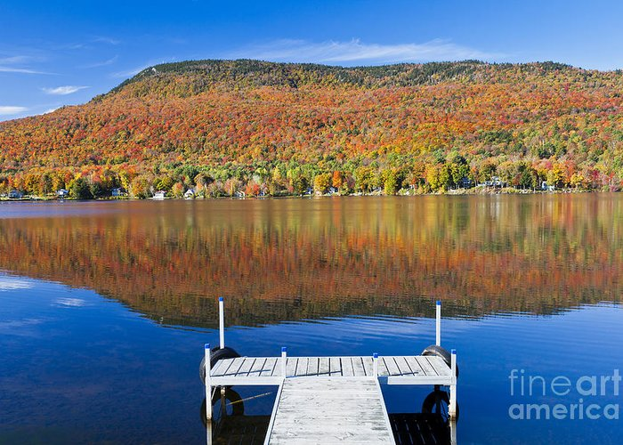 Fall Greeting Card featuring the photograph Lake Elmore Autumn by Alan L Graham