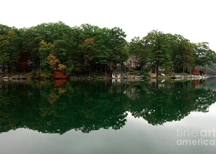 Lake Erskine Greeting Card featuring the photograph Lake Erskine by John Rizzuto