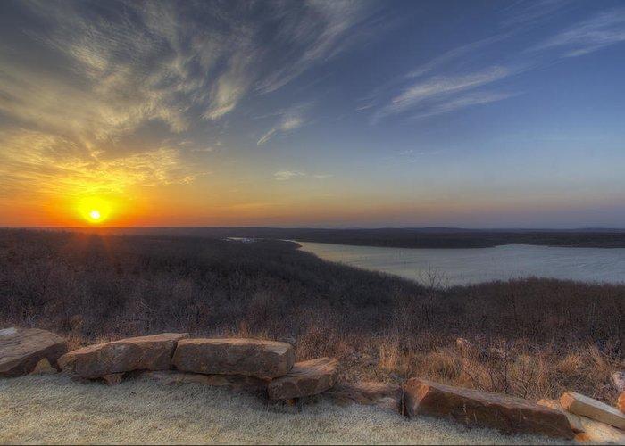 Sun Greeting Card featuring the photograph Lake Eufaula Sunrise A by Floyd Morgan Jr