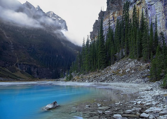 lake Louise Greeting Card featuring the photograph Lake Louise North Shore - Canada Rockies by Daniel Hagerman