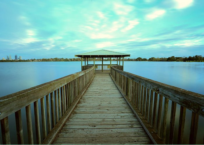 Perth Greeting Card featuring the photograph Lake Monger Western Australia by Jacqui Hunt