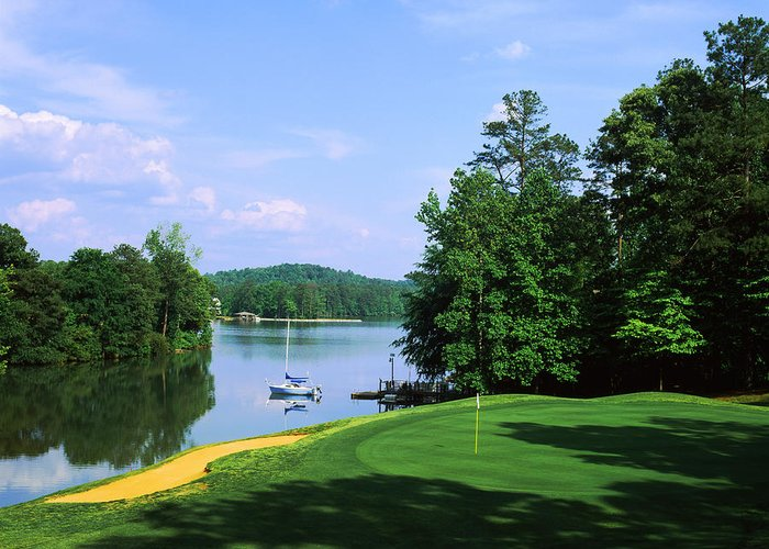 Scenic Golf Courses Greeting Cards