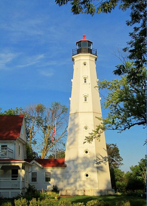 Lake Park Greeting Card featuring the photograph Lake Park Light House 2 by Susan McMenamin