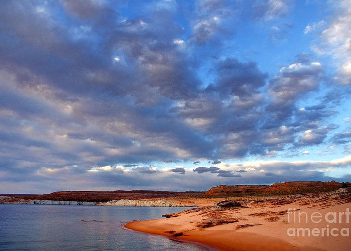 Lake Powell Greeting Card featuring the photograph Lake Powell Morning by Thomas R Fletcher