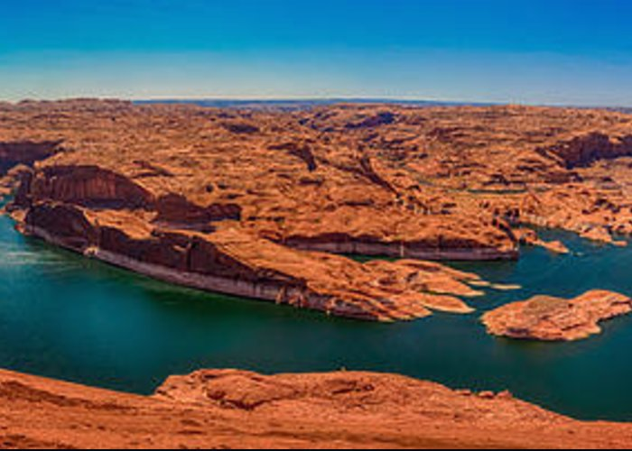 Hdr Greeting Card featuring the photograph Lake Powell Panorama Hdr by Scotts Scapes