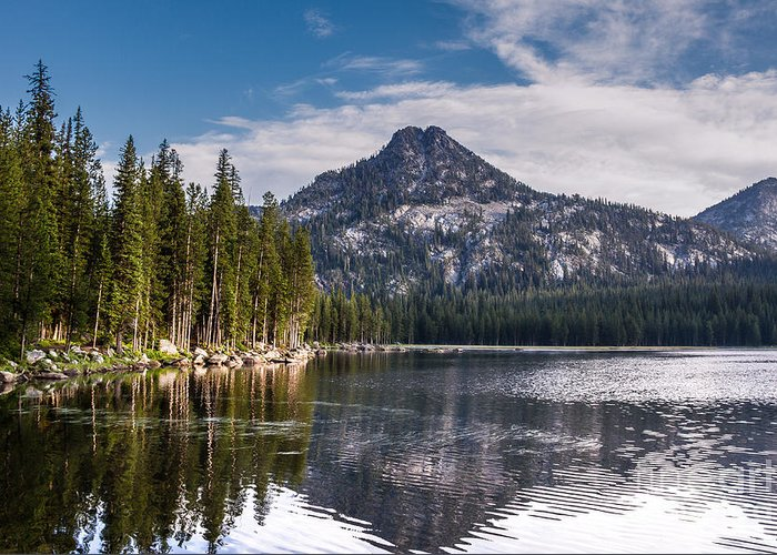 Anthony Lake Greeting Card featuring the photograph Lake Reflection by Robert Bales