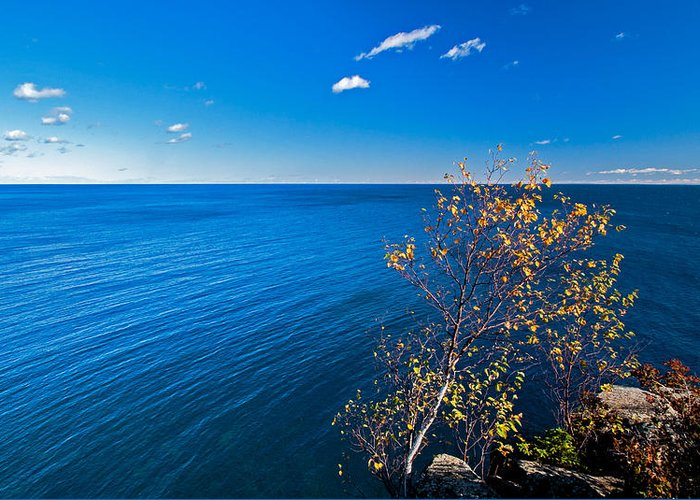 Lake Superior; Lake; Water; Great Lakes; North Shore Drive; North; Minnesota Greeting Card featuring the photograph Lake Superior by Lonnie Paulson