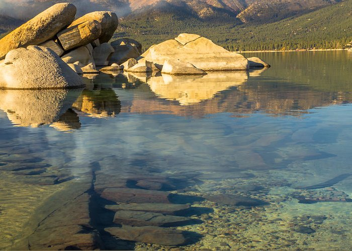 Landscape Greeting Card featuring the photograph Lake Tahoe Clarity by Marc Crumpler
